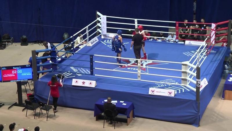 Тулаев Владимир Бой номер 2 Чемпионат России по тайскому боксу