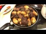 Говяжья ребра с картофелем и розмарином в красном вине  - домашняя итальянская кухня