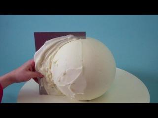 ( https://vk.com/lakomkavk) How To Make A Round Cake - Evil Cake Genius Globe Cake