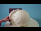 (https://vk.com/lakomkavk) How To Make A Round Cake - Evil Cake Genius Globe Cake