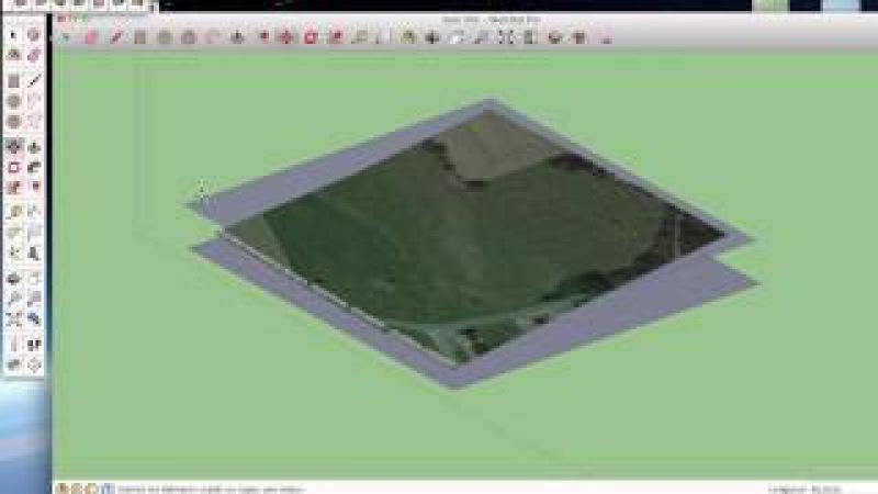 Tuto Sketchup Modéliser un Terrain en 3D rapidement