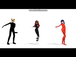 Леди баг и супер кот mmd танец-  Light It Up