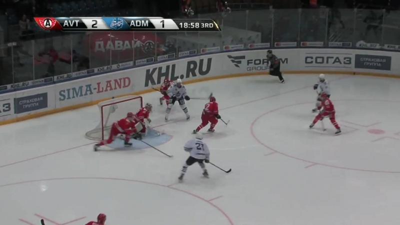 КХЛ.Сезон 2016/17.Автомобилист - Адмирал 3:2 Б. Обзор матча