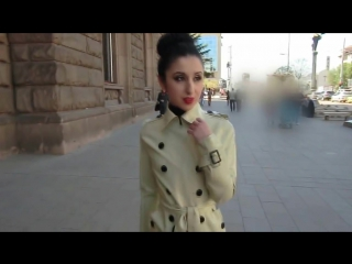 Latex Trench Coat and Catsuit in Public