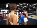 Models very first boxing class