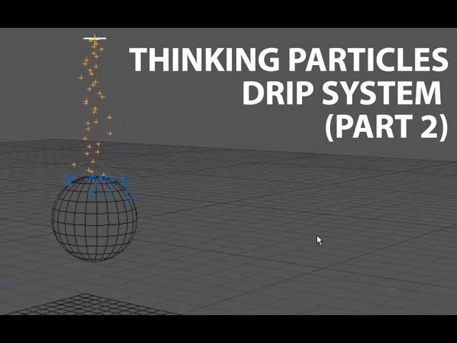 Cinema4D Tutorial Thinking Particles Simple Drip System Part 2 Beginner