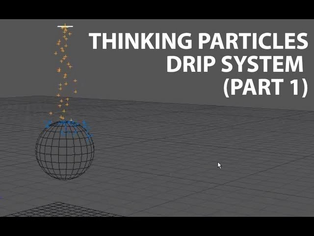 Cinema4D Tutorial Thinking Particles Simple Drip System Part 1 Beginner