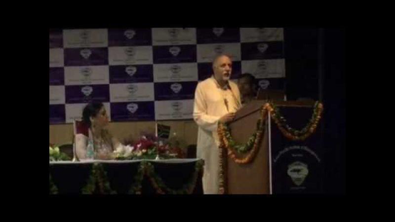 Yogi Mahajan speaking at the BRICS Conference, New Delhi, 21 May 2016