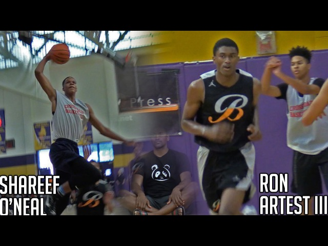 Shareef ONeal VS Ron Artest III | Sons of Shaq Metta World-Peace Face Off At Ron Massey Classic!