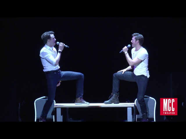 Aaron Tveit and Gavin Creel sing Take Me or Leave Me from RENT