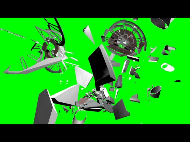 Projector N130810 3D model breaking up green screen animation 64bit test 1 s01r05