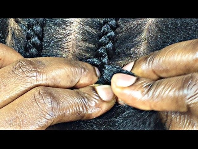 143. HOW TO CORNROW 4 BEGINNERS ONLY