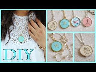 DIY Necklaces: Chanel, Lace, Starfish, Paris (Resin/Mod Podge)