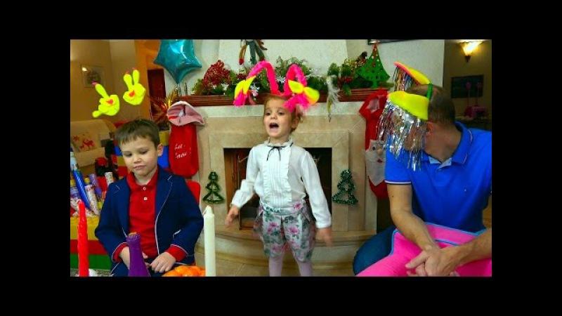 Новогодний стол Челлендж/ Мальчики VS Девочек/ Поздравления с Новым 2017 Годом