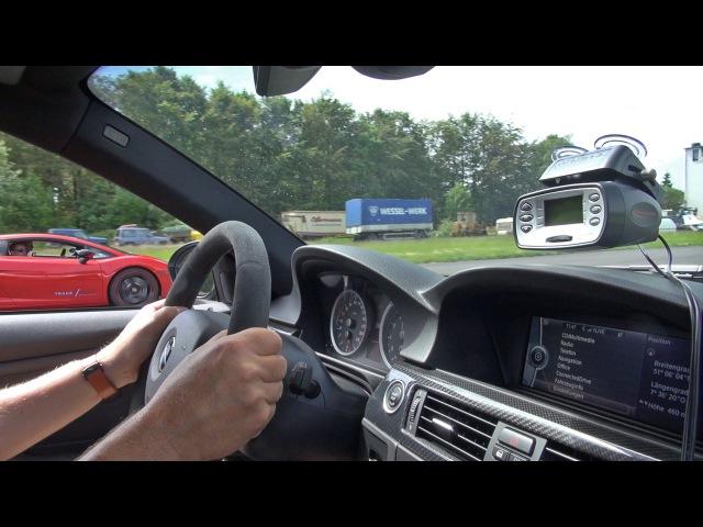 G-POWER BMW E92 M3 SKII CS vs Lamborghini Gallardo!