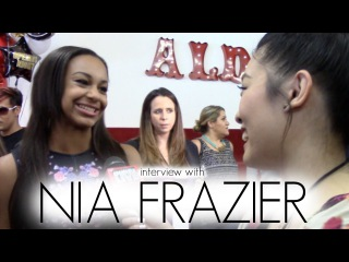 nia frazier at the opening of abby lee millers dance
