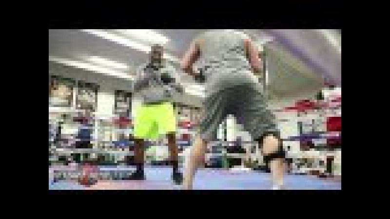 J'Leon Love puts in work ahead of his bout on April 1st on Broner vs Theophane fight