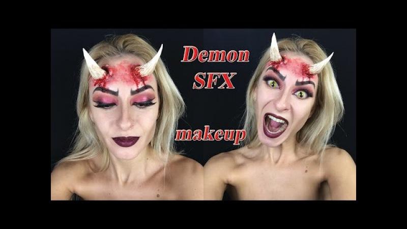Demon. Грим дьяволицы. Хэллоуин 2017