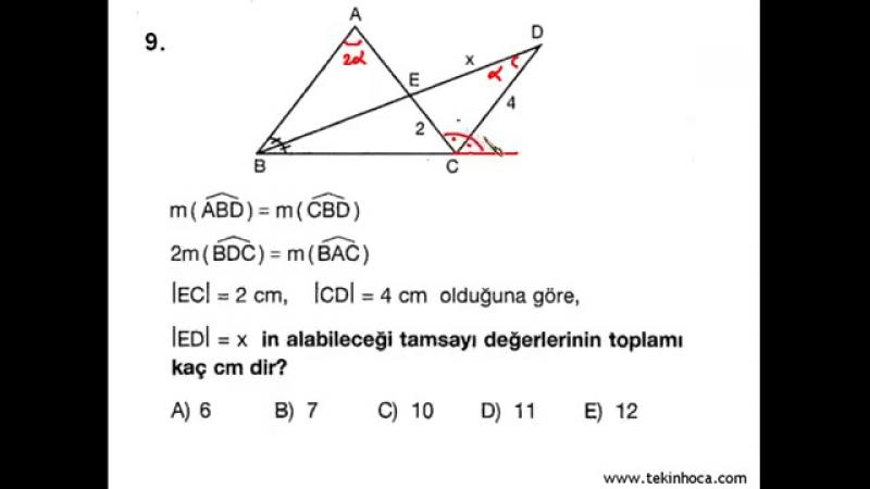 1-Açı-Kenar Bağıntıları (Geometri Soru Çözümleri) (KPSS - YGS - LYS)