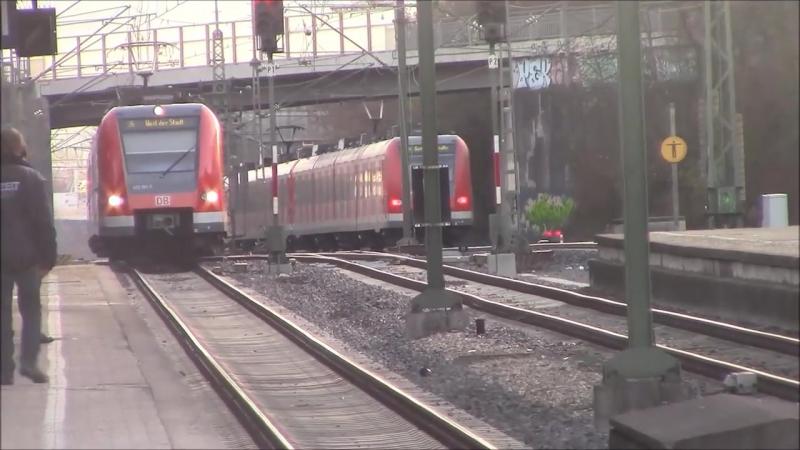 Korntal - S-Bahn Stuttgart mit ET 423 - RegioShuttle RS1 (Strohgaubahn) - Albatros Express Guterzug