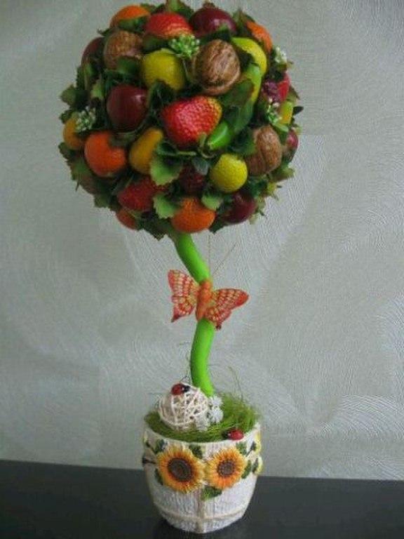 Топиарий из фруктов своими руками пошагово