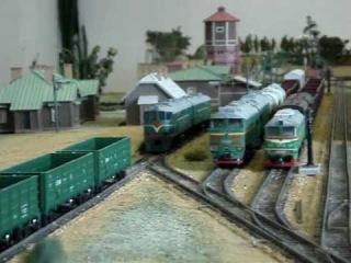 Выставка моделей ЖД в музее LDz (2011)