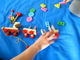 Паровозик Мир деревянной игрушки от 2х лет