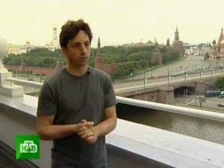 an interview with google's founder sergey brin, in russian