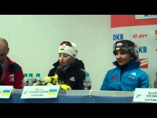 Germany and Ukraine Women's Relay Press Conference