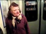 Бабка-тролль в питерском метро
