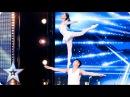 Gao Lin Liu Xin stun with their elegant acrobatics   Auditions Week 2   Britain's Got Talent 2017