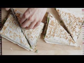 Сендвич с картофелем и грибами (vegan)