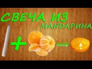 Как сделать свечу из мандарина/How to make a candle out of a tangerine