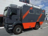 4WD MAN 18.290 Overland camper vehicle: EXTERIOR design, systems equipment