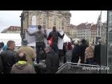 Merkels Empfang vorm Verkehrsmuseum - Claudia Roth provoziert - Semperoperprotest