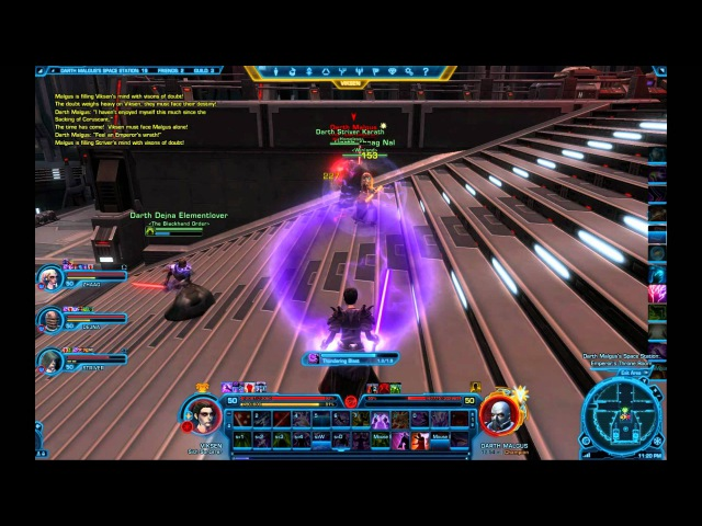 Star Wars The Old Republic - Darth Malgus Fight in The False Emperor Flashpoint