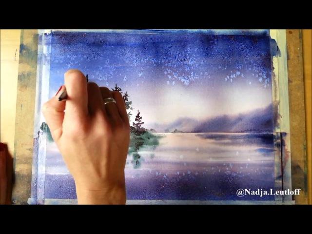 Landschaft mit Salz