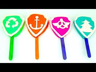 Щенячий патруль пластилин для детей. Лепим мороженое Щенячий патруль. Игрушк...