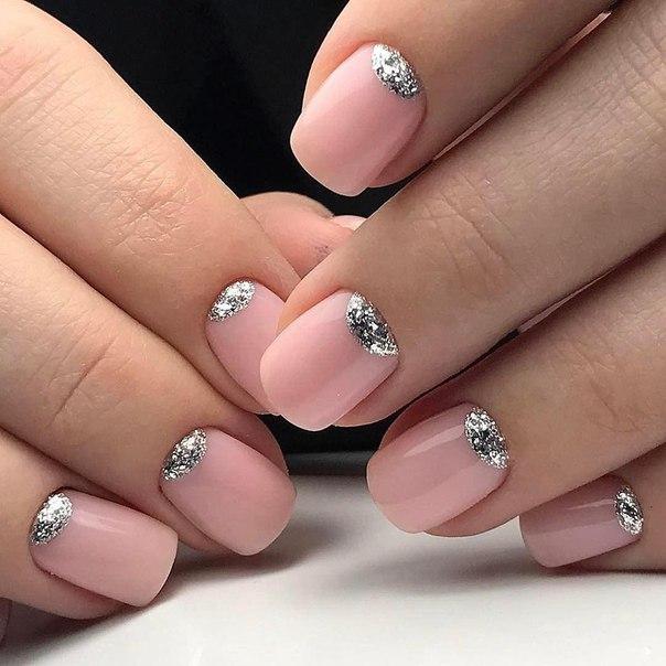 Маникюр шеллак на короткие ногти 2017