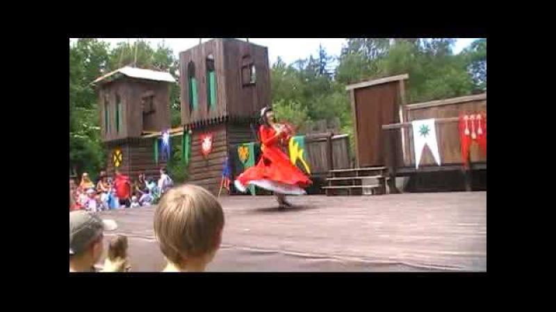 Mediaeval dance / Historical dance improvization - dance with tambourine Ajna