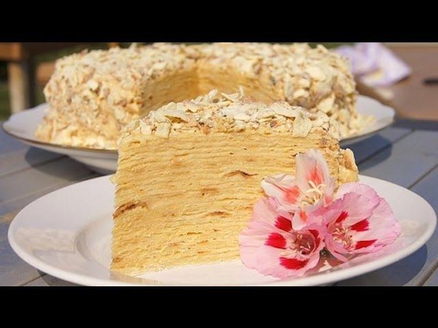 Торт Наполеон Торт Наполеон классический рецепт Наполеон торт Торт Наполеон с