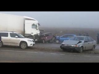 В массовом ДТП под Белгородом столкнулись 15 машин