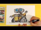 Как нарисовать ВАЛЛ И  How To Draw Wall-E  Урок рисования для детей