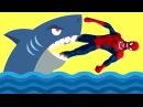 Человека-паука атакует акула! Замороженная Эльза Смешные розыгрыши