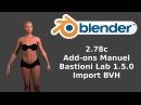 Blender 2.78c add=onsManuel Bastioni Lab-Import BVH