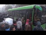 مراسل بلدي يرصد خروج أول دفعة من المدنيين من داخل مدينة حلب المحاصرة 2016/12/15
