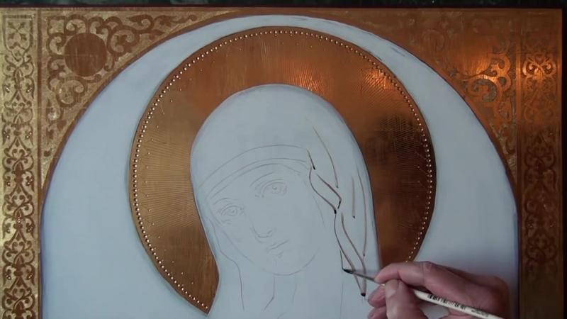 Видеоурок написание иконы httpikona-afon.ru-, Dipingere licona, How to paint an icon
