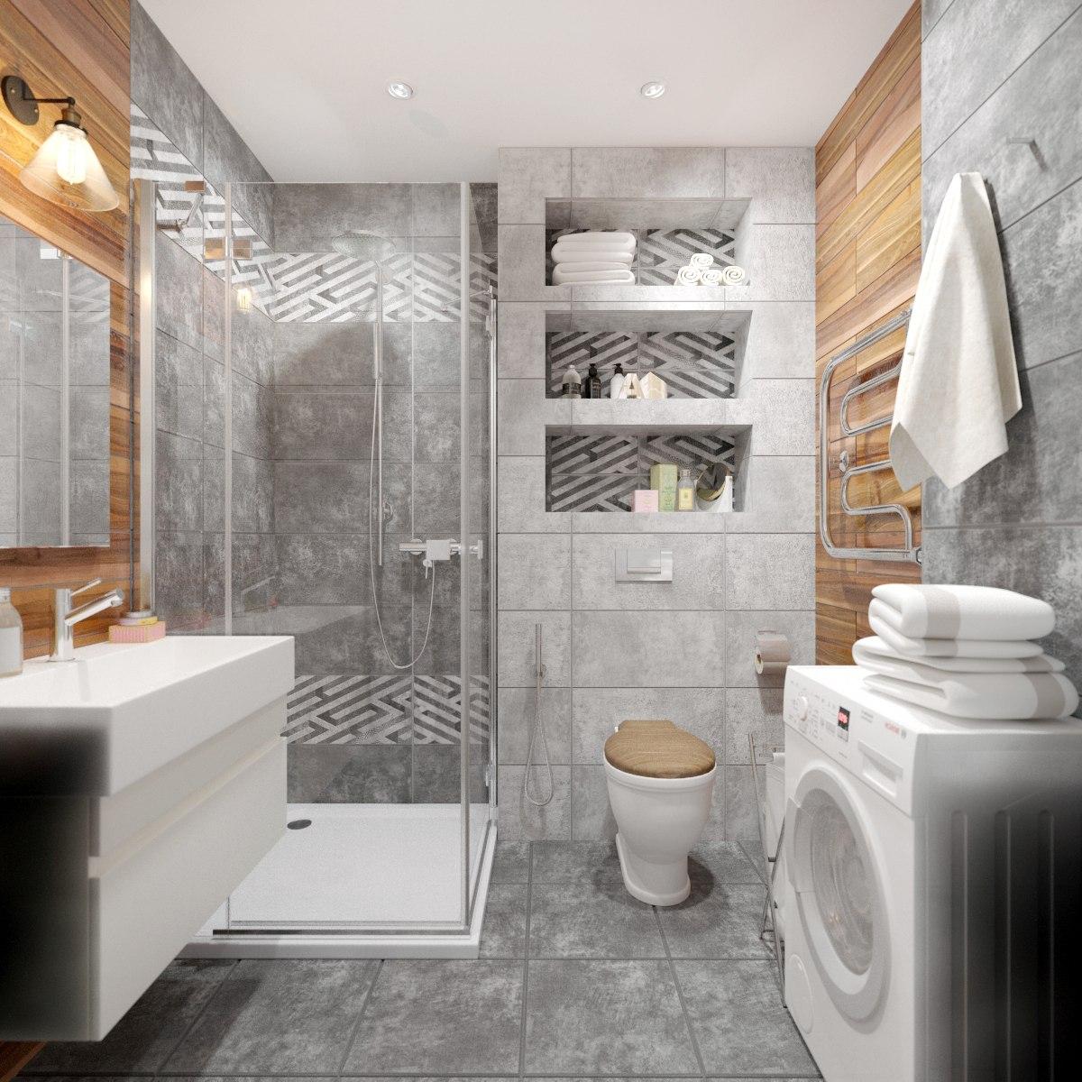 Дизайн-проект квартиры с полной перепланировкой 46 м кв.