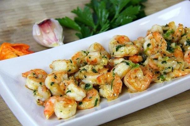 Креветки в чесночном соусе рецепт с фото