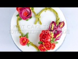 Heart shaped Valentine's Day flower wreath cake - How to make by Olga Zaytseva  CAKE TRENDS 2017 #4